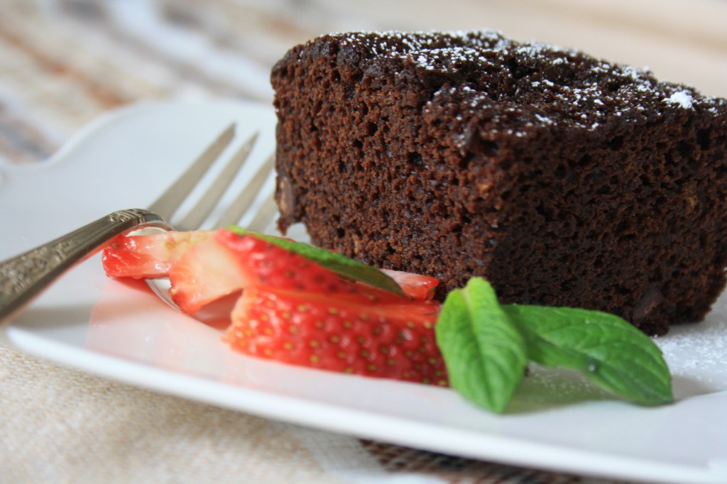 Chocolate gingerbread cake is spicy and sweet