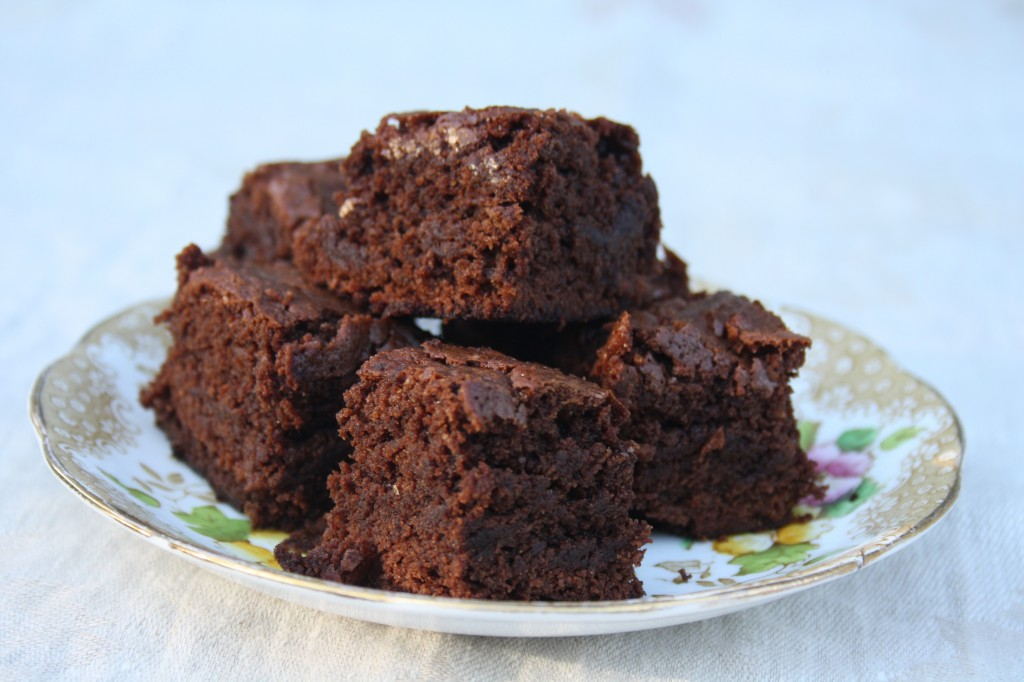 Molasses brownies are dense, fudgy and easy to make.