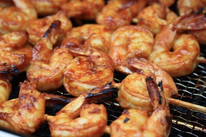 Crevettes grillées deux façons