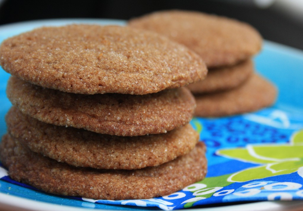 Coconut flax molasses cookies are a tasty vegan treat
