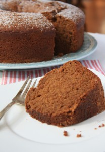 Whole wheat apple sauce cake is wholesome and delicious