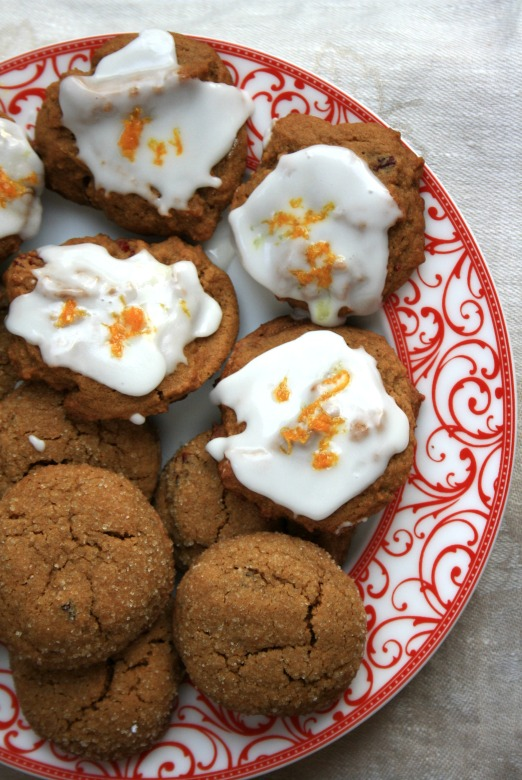 Orange spice molasses cookies