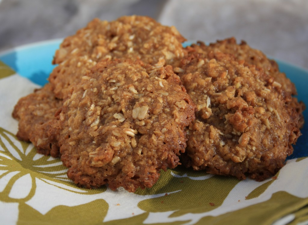 Chewy in the middle, crispy on the edges. These quick, family friendly cookies are easy to prepare and healthy with flax, oats and unsweetened coconut.