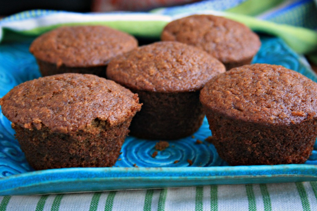 Ginger molasses muffins, healthy and light.