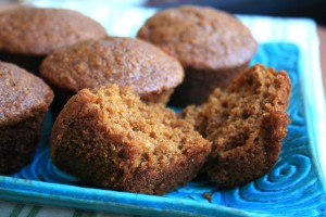 Ginger molasses muffins are light and healthy