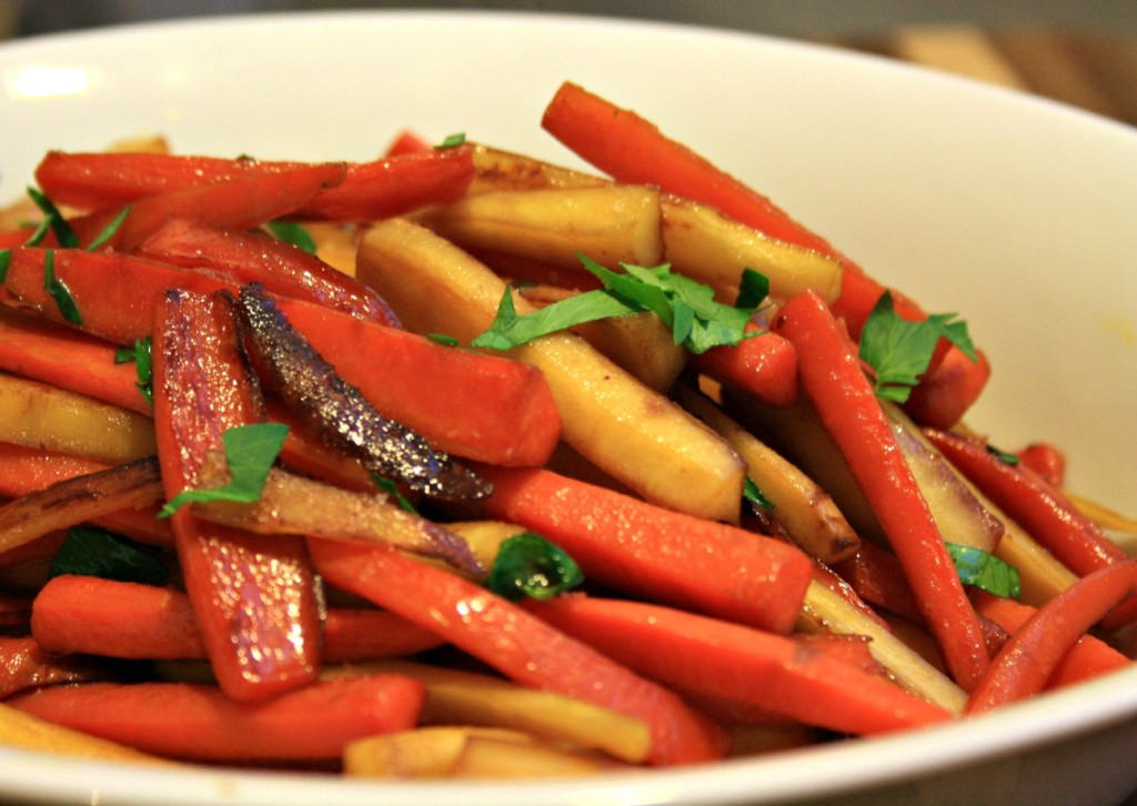 Molasses glazed carrots and parsnips a quick side dish that's easy to devour