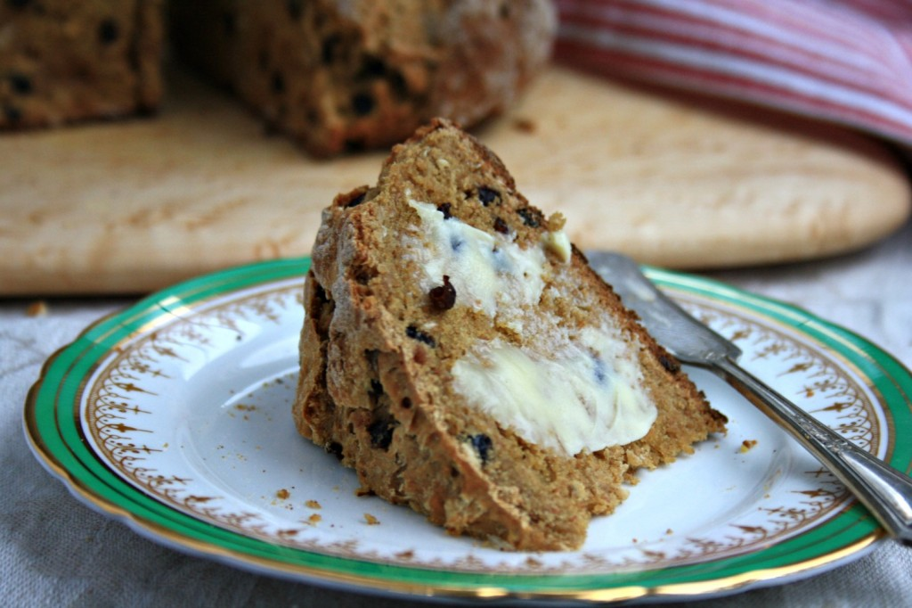 Irish soda bread with molasses is quick to mix up, hearty and delicious