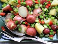 potato salad in molasses vinaigrette non-mayonaise