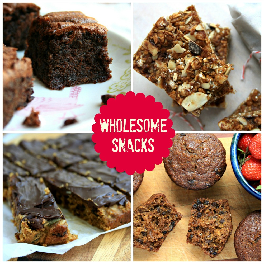 Wholesome Snacks, a free e-book featuring 16 recipes for healthy homemade snack food