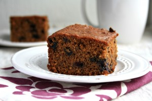 blueberry flax gingerbread