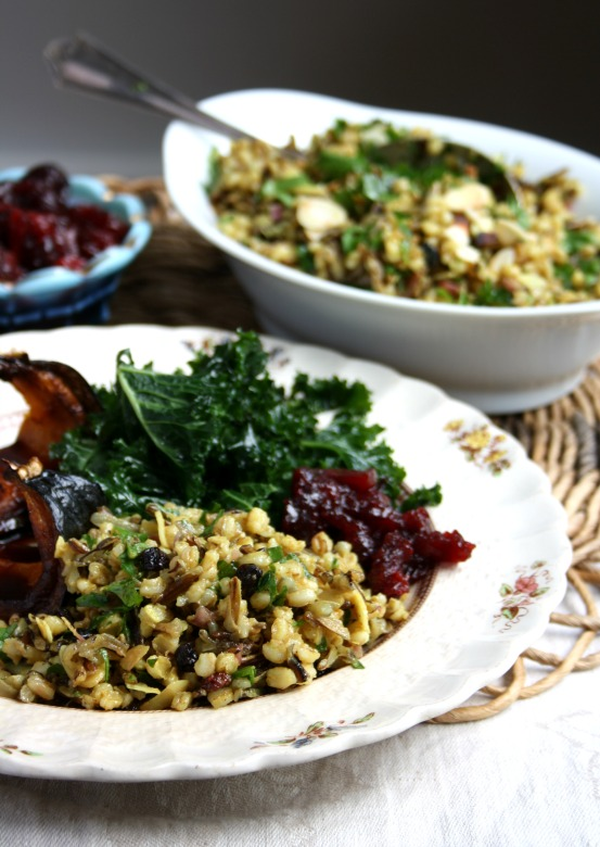 WIld rice and barley pilaf