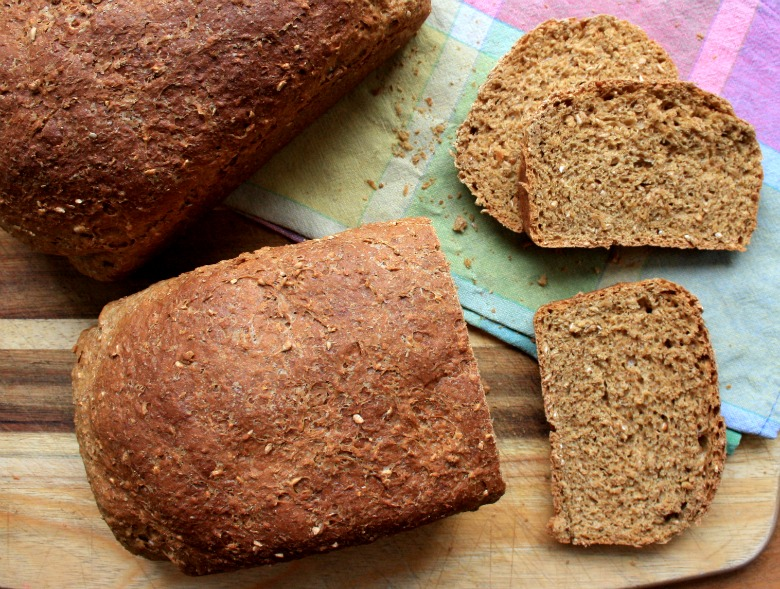 Cracked wheat brown bread recipe with molasses