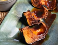 molasses cider glazed winter squash