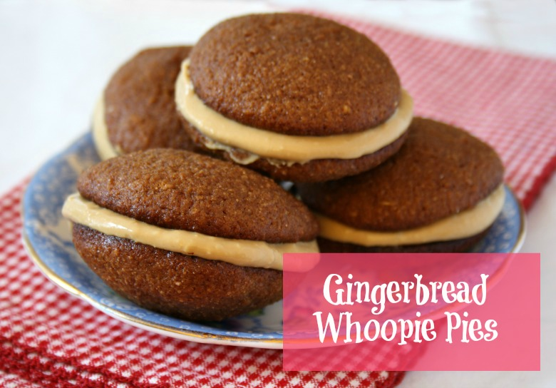 Mini gingerbread whoopie pies - Grandma Molasses