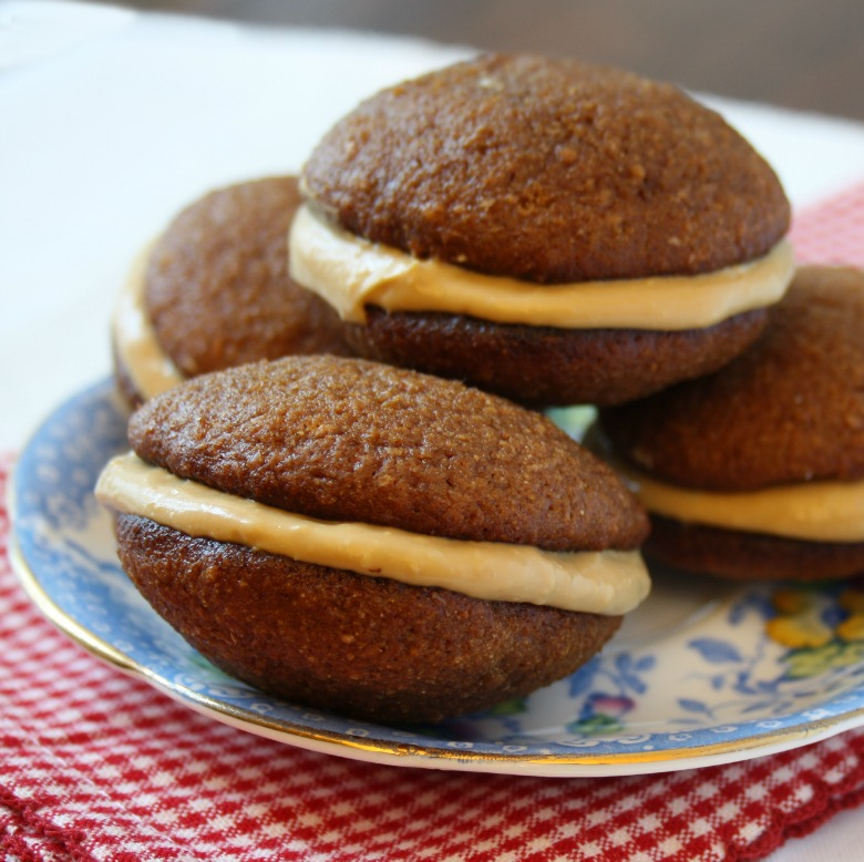 mini gingerbread whoopie pies were the final product. A soft molasses ...