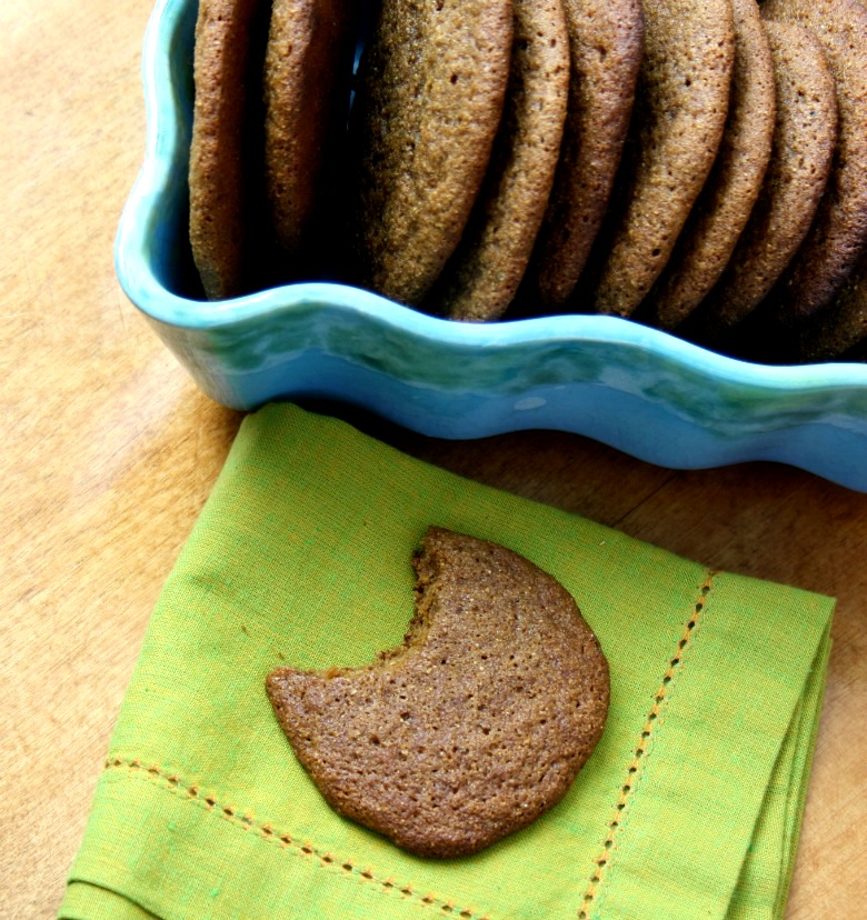 Chewy and soft molasses coffee cookies