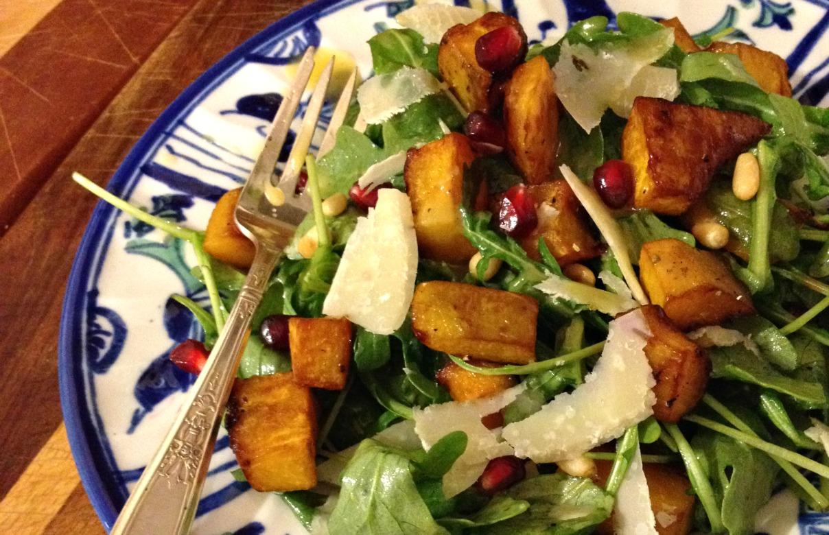 Roasted Squash Salad With Cider Vinaigrette