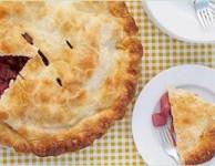 Rhubarb apple pie