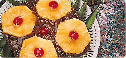 Pineapple Upside- Down Gingerbread<