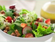 Salad with Molasses Vinaigrette and Black Pepper Walnuts