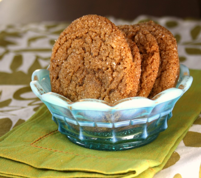 really good molasses cookies with candied ginger and balsamic vinegar