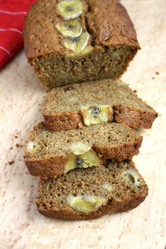 banana bread - slice