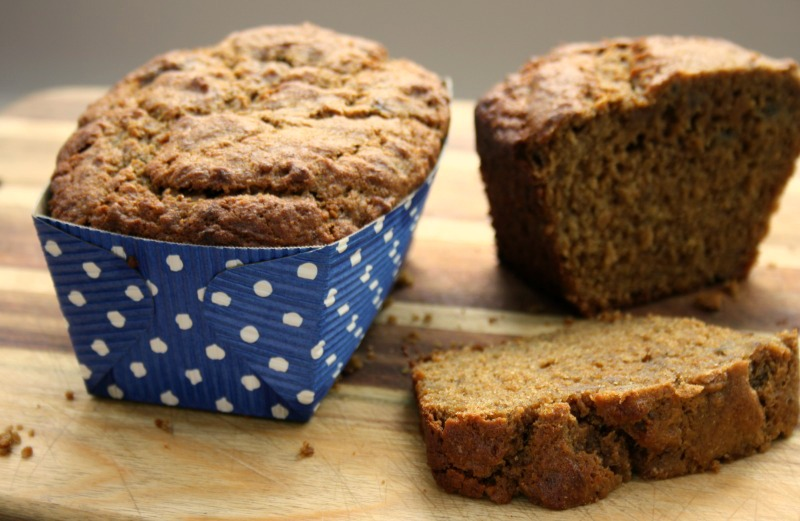 healthy whole wheat molasses banana bread