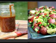 sauce and salad