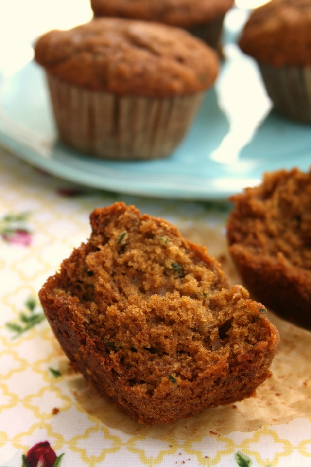 whole wheat molasses zucchini muffins