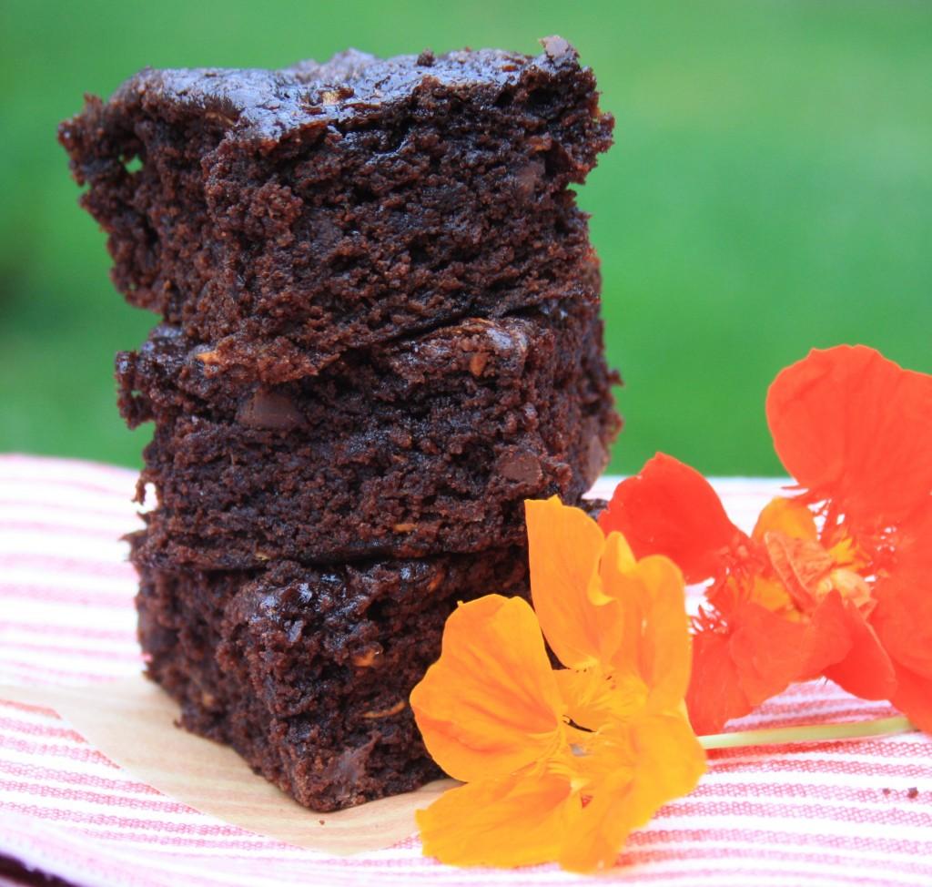 brownies avec fleurs oranges