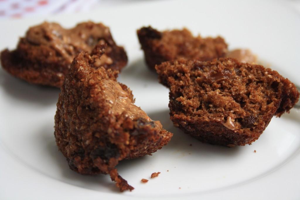 Muffins au son avec beurre d'arachide