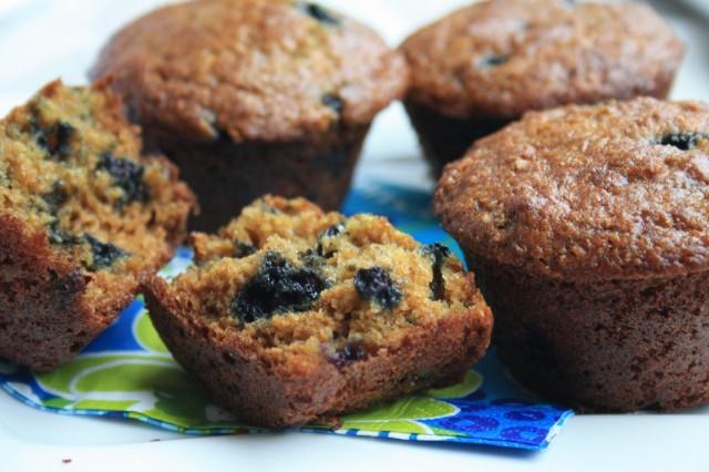 Muffins santé aux bleuets et au germe de blé