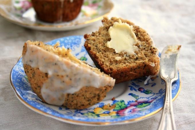 Muffins aux graines de pavot et au citron