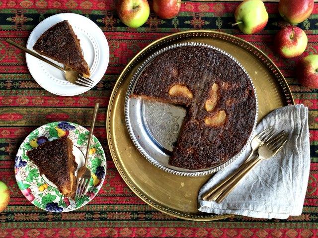 Pain d'épices renversé aux pommes