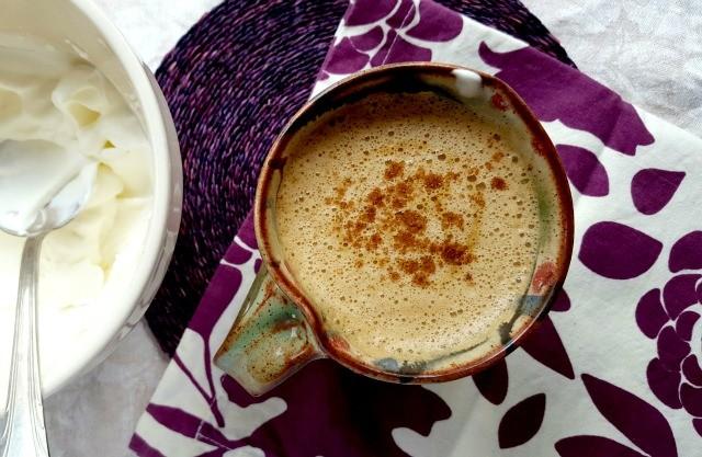 Café latté aux épices et à la citrouille