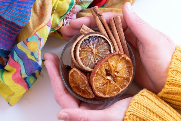 oranges sechees au four