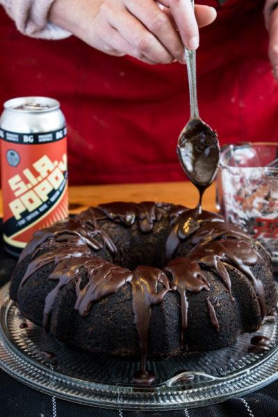 Gâteau pain d'épice bière chocolat
