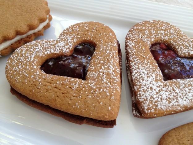 biscuit en forme de coeur