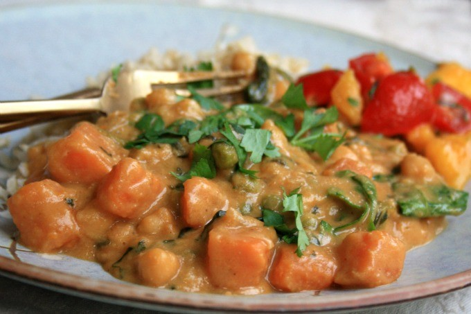 curry patate douces et pois chiches