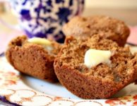 muffin au son avec beurre
