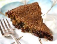 tarte au chocolat avec fourchette