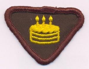 badge scout gateau