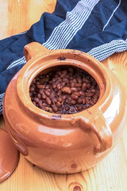 cocotte avec feves au lard