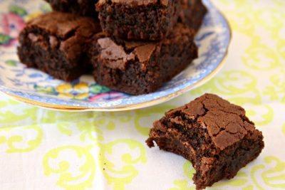 brownies avec une bouchée