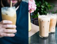 latte glace lat de coco melasse et cannelle