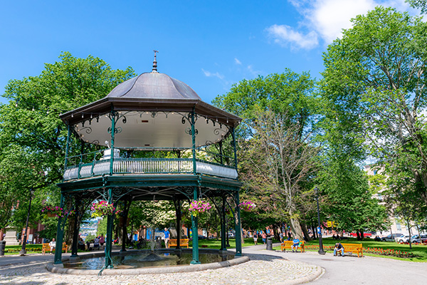 King's Square bandstand.