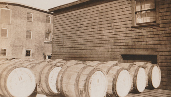Barrels of Crosby's molasses.